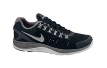 Nike Men's LunarGlide+ 4 black/reflective slvr/dark grey/wlf gry